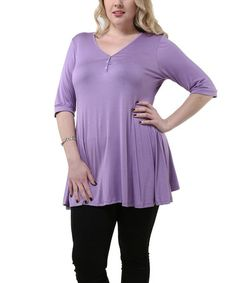 Loving this Lilac Henley - Plus on #zulily! #zulilyfinds