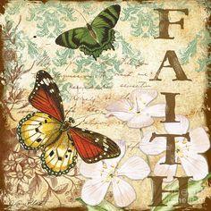 Faith And Butterflies Digital Art  - Faith And Butterflies Fine Art Print
