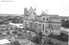Construção Igreja matriz - centro - Jornal dos Bairros - Itajaí: 150 anos de História