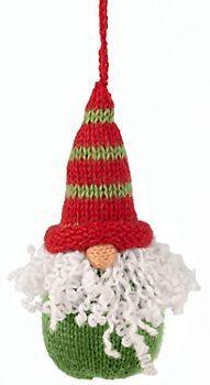 Knit Gnome Ornament