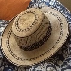 Panama Sombrero. Price firm. Beautiful hat made in El Valle de Anton, Panama. Made to last a lifetime! No stains. Slight waving and curves add character. (Noted on last picture). No tags, no brand. Handmade by artisans. Accessories Hats