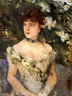 Jeune Femme en robe de bal - Berthe Morisot . 1879