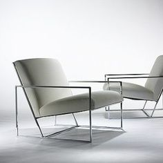 Lounge chair Milo Baughman _ Possible living room chairs? Not colour but style Steel Furniture, Deco Furniture, Furniture Makeover, Vintage Furniture, Furniture Decor, Modern Furniture, Furniture Design, Luxury Furniture, Transforming Furniture