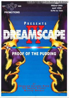 Dreamscape IV @ The Sanctuary Milton Keynes 1992 - classic #raveflyers uploaded to #phatmedia