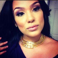 Emily B makeup evening look