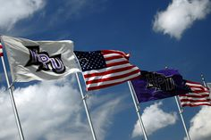 Throughout the campus, High Point University represents every student by having the flag of their country waving