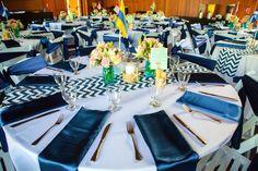 Wedding details #tabledressing #chevron #DIY Wedding Details, Chevron, Table Decorations, Diy, Furniture, Home Decor, Decoration Home, Bricolage, Room Decor
