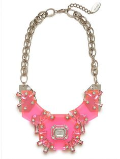 pink galactic gem bib - this color is perfect for spring! Funky but I like it!!