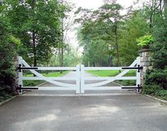 Top 60 Best Driveway Gate Ideas - Wooden And Metal Entrances Drivway Entry White Fence Double Gate I