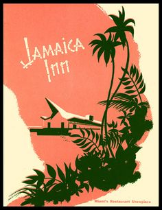 1960s desser menu, front cover dessert menu from Jamaica Inn - Miami, Florida