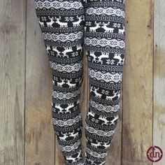 Reindeer Leggings North Design, Buttery Soft Leggings, Christmas Leggings, Pairs, Clothes, Shopping, Reindeer, Corner, Animals