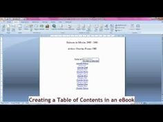 eBook Formatting - Creating a Linked Table of Contents Manually. very helpful. also, Ctrl + click to open a hyperlink faster