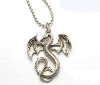 Lady of the Lake Sweden - Halsband med metallhängen Drake, Pendants, Necklaces, Pendant Necklace, Lady, Metal, Silver, Jewelry, Jewellery Making