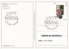 Sobrescrito circulado com carimbo 1.º dia da série de selos Natal. Selo de taxa 0,47€ referente emissão Natal colocada em circulação a 121 de outubro de 2009