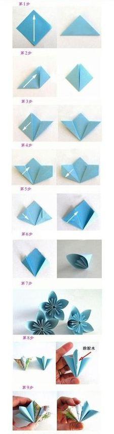 незабудка оригами из цветной бумаги пошагово литературные журналы охотно