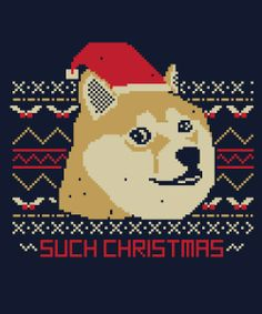 SUCH CHRISTMAS on Qwertee : Limited Edition Cheap Daily T Shirts   Gone in 24 Hours   T-shirt Only £8/€10/$12   Cool Graphic Funny Tee Shirts