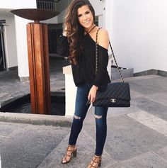 Emily Gemma - perfect date night outfit & heels!