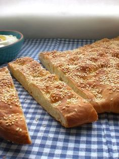 Lagana, greek lenten bread My Little Expat Kitchen Bread Oven, Bread Baking, Flat Bread, Greek Recipes, Mexican Food Recipes, Greek Bread, Eat Greek, Greek Cooking, Gourmet