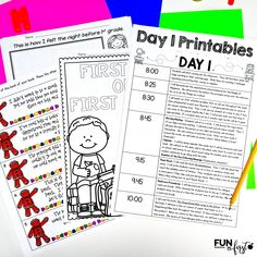 Back to School for First Grade - Fun in First Back To School, First Day Of School, Math Activities, Beginning Of Year, Welcome Letters, Know Your Name, Name Games, School Routines, Meet The Teacher