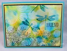 watercolor Bokeh friend card by France Martin