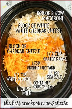 Crockpot Mac and Cheese This homemade crockpot mac and cheese recipe comes together beautifully in your slow cooker. This is no ordinary crockpot mac and cheese recipe because it's extra creamy and full of flavor thanks to an amazing combo of milk, season Easy Make Ahead Appetizers, Fun Easy Recipes, Easy Meals, Meat Appetizers, Simple Appetizers, Recipes Dinner, Summer Crock Pot Recipes, Party Crockpot Recipes, Recipes For One