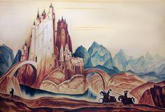 Gustaf tenggren King Arthur and the Knights of the round Table - 6 Grim Fairy Tales, King Arthur Legend, Mists Of Avalon, Roi Arthur, Mary Blair, Disney Concept Art, Fairytale Art, Book Illustration, Beauty Illustration