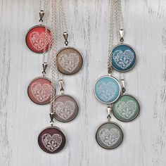 Custom Lace Necklace Embroidered Heart by LivingOnTheRainbow