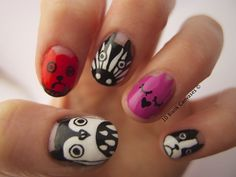 SO neat!... Nail art inspired by Marc by Marc Jacobs iPhone cases! via 10 Blank Canvases