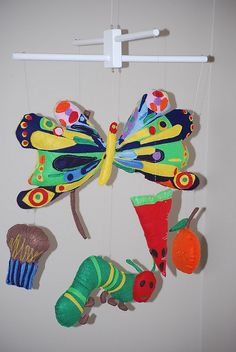Eric Carle Mobile by StrawberryRicRac, via Flickr