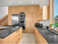 Endearing House Design with Super Modern Style in USA: Mesmerizing Kitchen Design Of Mount Baker Residence With Soft Brown Colored Kitchen . Plywood House, Plywood Kitchen, Modern Kitchen Design, Modern Interior Design, Kitchen Designs, Modern Decor, Modern Ovens, Modern Kitchens, Dream Home Design