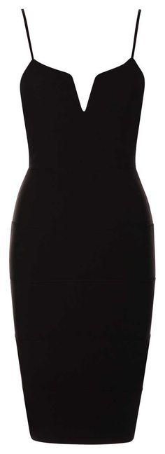8f3a237500 Sukienka bandażowa ołówkowa midi czarna. Divine Wear - Moda Angielska