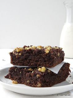 Grain-free, Chocolate Banana Bread Brownies are amazingly moist and fudgy.   low carb, gluten-free, dairy-free, Paleo   http://momcanihavethat.com