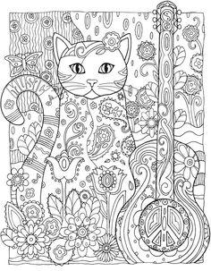 Desenhos para colorir Gato Jardim Secreto