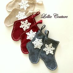 Your place to buy and sell all things handmade Mini Christmas Stockings, Mini Stockings, Modern Christmas, Merry Christmas, Christmas 2017, Xmas, Christmas Ornaments, Father's Day Unique Gifts, Felt Stocking