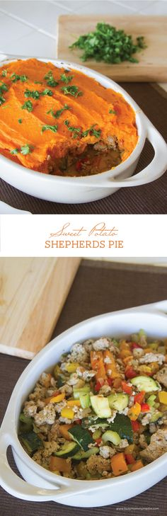 Sweet Potato Shepherd's Pie - This fall twist on a classic shepherd's pie is absolutely packed with flavor! | BusyMommyMedia.com