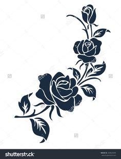 Rose Motif,Flower Design Elements Vector - 209824699 : Shutterstock