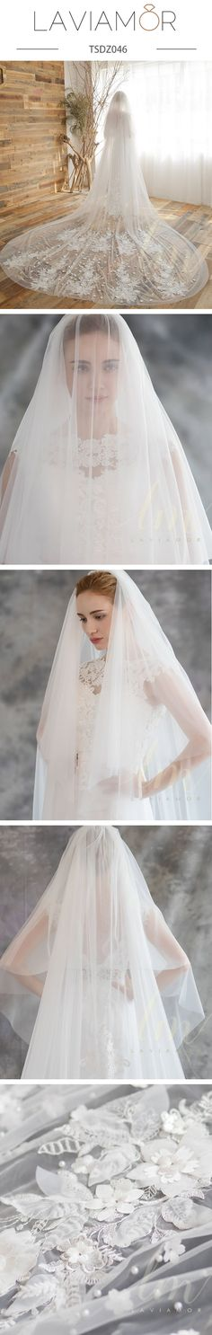 9d00599349b1e 11 Best cathedral lace veils images in 2018 | Lace veils, Wedding ...