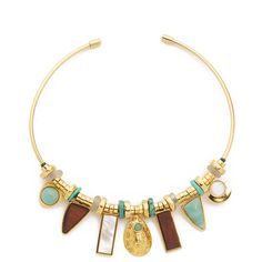 Lizzie Fortunato Azure Seas Collar Necklace (€440) ❤ liked on Polyvore featuring jewelry, necklaces, beading jewelry, beaded choker necklace, collar necklace, bead necklace and bead jewellery
