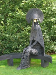 """Sculpture by Phillip Jackson, from """"Sacred and Profane"""" exhibition at the Bishop's Palace Gardens, Wells, in 2006."""