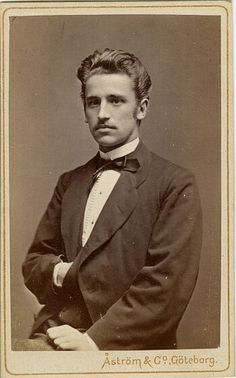 Okay, this guy's from Sweden, not London, but he's cute!    Francis William Öhrstrom, Sweden, c. 1872.