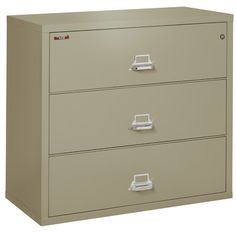 FireKing 3-Drawer Lateral File Cabinet Finish: Pewter, Lock: Manipulation-Proof Comb. Lock