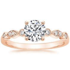 14K Rose Gold Tiara Diamond Ring from Brilliant Earth. 1 CT may be   with a matching  wedding  band