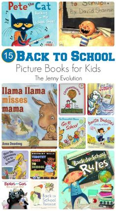 back to school BACK TO SCHOOL PICTURE BOOKS Are you gearing up for the first day of school like I am? We have a grader this year and our youngest is starting Kindergarten. 1st Day Of School, Beginning Of The School Year, I School, Back To School Activities, Book Activities, Back To School Pictures, Starting Kindergarten, Preschool Books, Kindergarten Books
