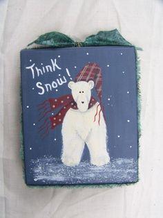 think snow shelf sitter block by debbyvg on Etsy, $6.00