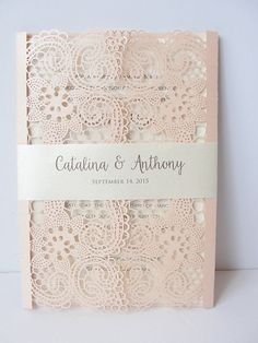 Laser Cut Wedding Invitation Lace Laser Cut by LavenderPaperie1