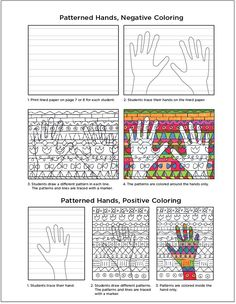 If your students enjoyed my Warm Hands project, then they probably will like this one too. My pdf file includes the lined background paper for both the horizontal and vertical versions, and lots sample patterns so they can break away from the usual hearts, stars, etc. They also have a choice in coloring positive or negative … Read More