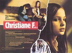 Natja Brunckhorst in Christiane F. – Wir Kinder vom Bahnhof Zoo Poster. Directed by Uli Edel, movie released in 1981.