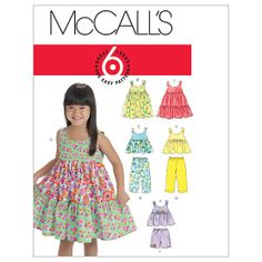 Toddlers'/Children's Tops, Dresses, Shorts And Pants-1-2-3 Pattern at Joann.com