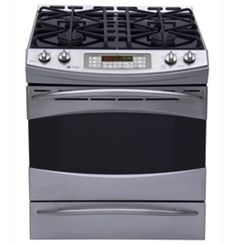 """P2S968SERSS by General Electric Canada in Winnipeg, MB - GE Profile 30"""" Self-Cleaning Dual Fuel Convection Range Shop JS Furniture Gallery for all your appliance needs.  1725 Ellice Avnue, Winnipeg, http://furnitureandmore.ca"""