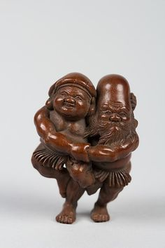 Netsuke of Two Figures | Japan | The Met